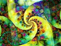Teste padrão espiral colorido da pintura ilustração royalty free