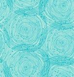Teste padrão espiral de turquesa Imagens de Stock