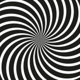Teste padrão espiral em preto e branco Imagem de Stock