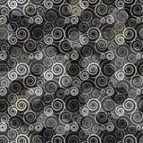 Teste padrão espiral preto Fotografia de Stock Royalty Free