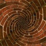 Teste padrão espiral radial do tijolo Fotografia de Stock Royalty Free