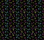 teste padrão espiral retro dos anos 90 ilustração stock