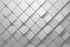 Teste padr?o esquadrado diagonal com sulcos brancos ilustração stock
