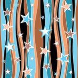 Teste padrão estelar abstrato sem emenda Fotografia de Stock Royalty Free