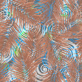 Teste padrão estilizado da folha da selva ilustração stock