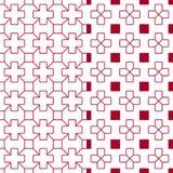 Teste padrão estofando vermelho japonês Imagem de Stock Royalty Free