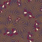 Teste padrão exótico sem emenda com as flores e as folhas das orquídeas retros Imagens de Stock Royalty Free