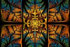 Teste padrão fabuloso do fractal. Coleção - folha da árvore. ilustração royalty free