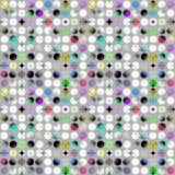 Teste padrão feito de círculos modelados coloridos Foto de Stock Royalty Free