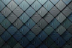 Teste padrão feito de quadrados poligonais com sulcos das ondas ilustração do vetor