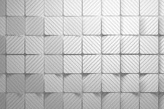 Teste padr?o feito dos quadrados brancos com sulcos ondulados ilustração stock