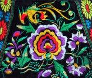 Teste padrão feito a mão étnico multicolorido do bordado imagens de stock