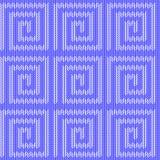 Teste padrão feito malha do projeto labirinto azul sem emenda. Th Imagens de Stock