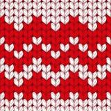 Teste padrão feito malha do vetor Natal de lã sem emenda Imagem de Stock Royalty Free