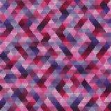Teste padrão feito malha geométrico sem emenda dos triângulos multi-coloridos Fotografia de Stock