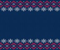 Teste padrão feito malha para a camiseta Fundo sem emenda do inverno Fotos de Stock