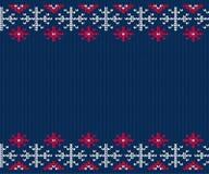 Teste padrão feito malha para a camiseta Fundo sem emenda do inverno ilustração do vetor