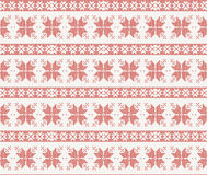 Teste padrão feito malha sem emenda com ornamento do Natal ilustração do vetor