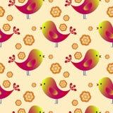 Teste padrão feliz com pássaros Easter feliz Pássaros da cor Foto de Stock