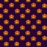 Teste padrão feliz de Halloween Foto de Stock