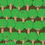 Teste padrão feliz dos esquilos Imagens de Stock