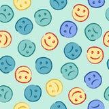 Teste padrão feliz e triste da cara Foto de Stock