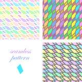 Teste padrão festivo brilhante sem emenda de listras diagonais e horizontais iridescentes ilustração stock