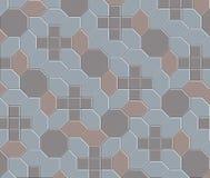 teste padrão floor-08 do tijolo da argila 3D Fotos de Stock