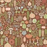 Teste padrão floral Fotografia de Stock