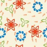 Teste padrão floral Ilustração Royalty Free