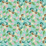 Teste padrão floral abstrato Fotos de Stock Royalty Free
