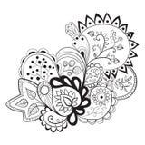 Teste padrão floral abstrato Fotografia de Stock