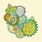 Teste padrão floral abstrato Fotos de Stock