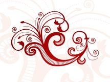 Teste padrão floral abstrato do vetor Fotografia de Stock Royalty Free