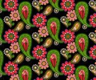 Teste padrão floral abstrato do vetor das garatujas Imagem de Stock
