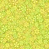 Teste padrão floral abstrato Flores amarelas, verdes e alaranjadas Fundo da textura da pétala Vetor sem emenda Foto de Stock Royalty Free