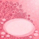 Teste padrão floral abstrato romântico Foto de Stock Royalty Free