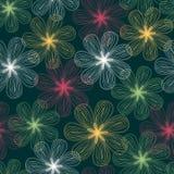 Teste padrão floral abstrato sem emenda Imagens de Stock Royalty Free