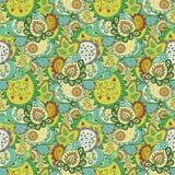 Teste padrão floral abstrato sem emenda Fotos de Stock