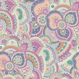 Teste padrão floral abstrato sem emenda do tema do verão ilustração royalty free