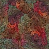 Teste padrão floral abstrato sem emenda do vintage do vetor Foto de Stock Royalty Free