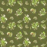 Teste padrão floral abstrato verde Fundo do vetor Imagem de Stock
