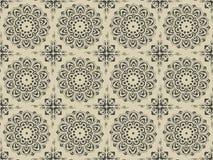 Teste padrão floral antigo complexo Ilustração Royalty Free