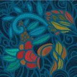 Teste padrão floral azul Fotos de Stock Royalty Free