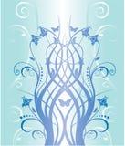 Teste padrão floral azul Foto de Stock