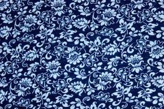 Teste padrão floral azul Foto de Stock Royalty Free