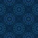Teste padrão floral azul Imagens de Stock