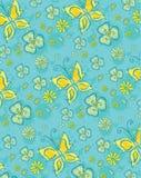 Teste padrão floral azul ilustração stock