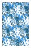Teste padrão floral azul do vetor Imagem de Stock Royalty Free