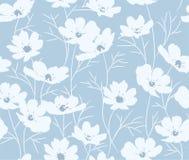 Teste padrão floral azul sem emenda do vetor Foto de Stock